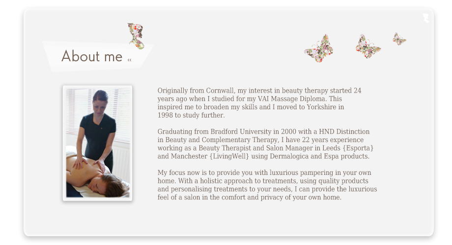 Mobile Beauty Therapist | About me